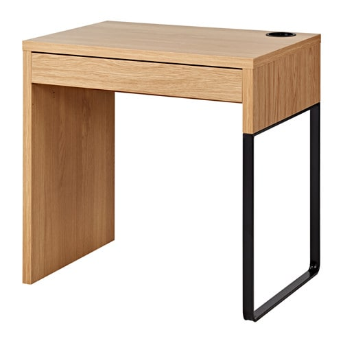Micke Desk Oak Effect 73x50 Cm Ikea