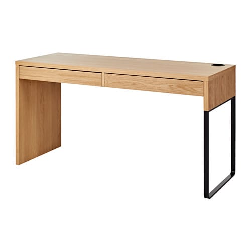 Micke Desk Oak Effect 142x50 Cm Ikea