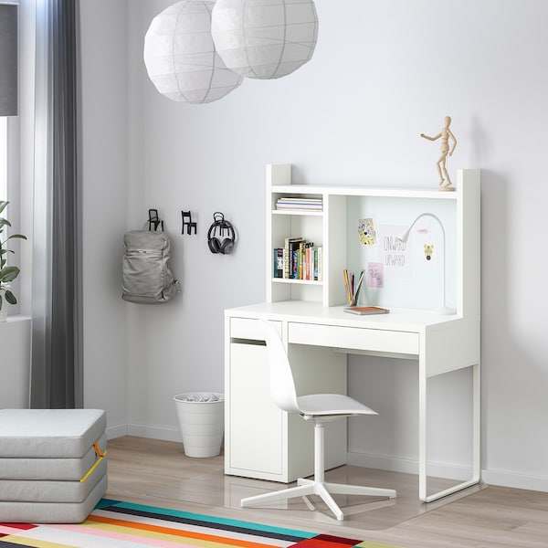 Micke White Desk 105x50 Cm Get It Today Ikea