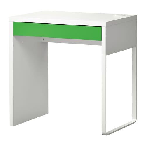 ikea micke desk computer desk pc table 73x50 cm nextday delivery white green ebay. Black Bedroom Furniture Sets. Home Design Ideas