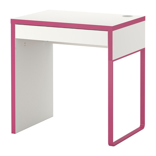 micke desk white pink ikea. Black Bedroom Furniture Sets. Home Design Ideas