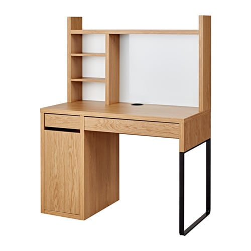 Micke Workstation Oak Effect 105x50 Cm Ikea