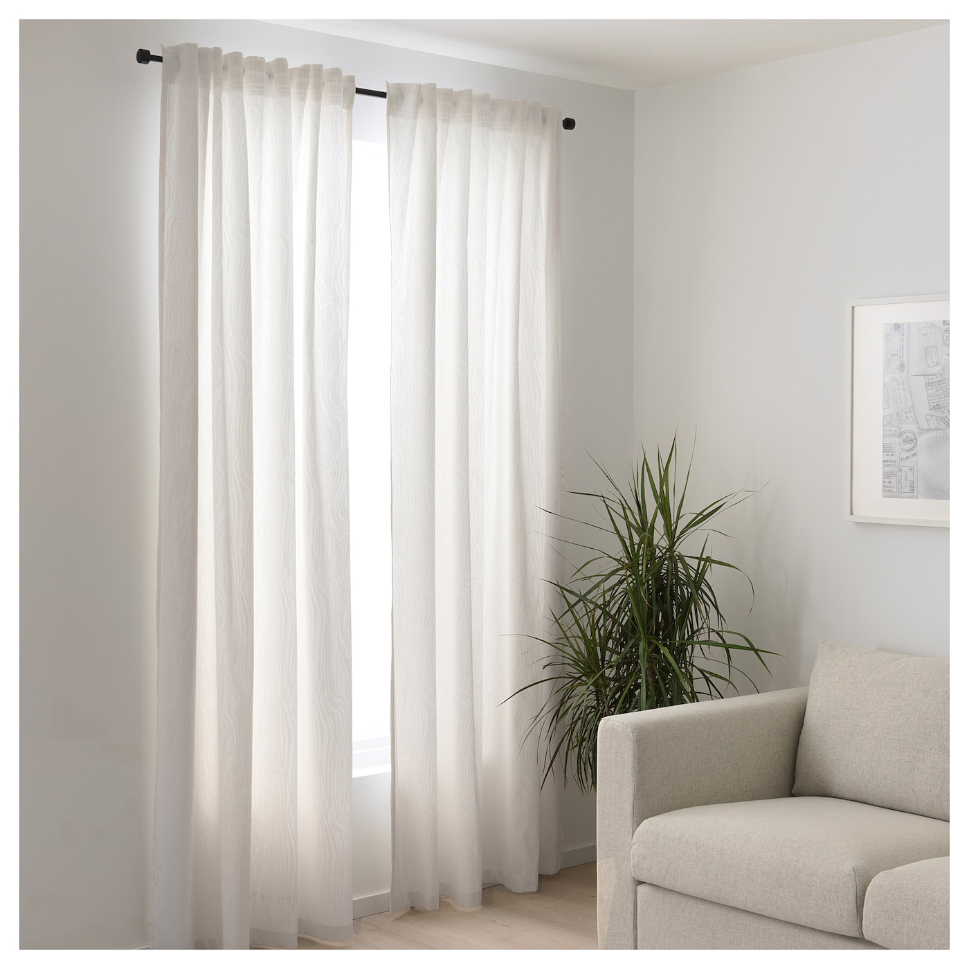 Ikea curtains white
