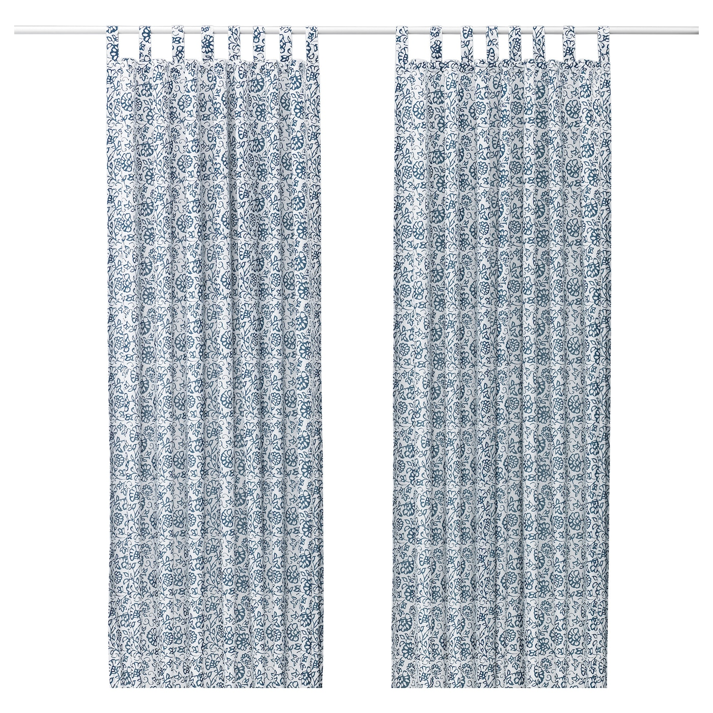 Ikea curtains blue - Ikea Mj Lk Rt Curtains 1 Pair The Curtains Can Be Used On A Curtain Rod Or