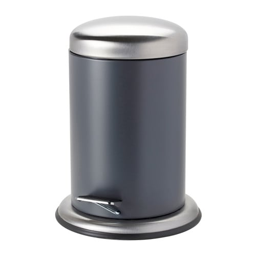 IKEA MJÖSA pedal bin The bin is easy to move since it has a handle on the back.