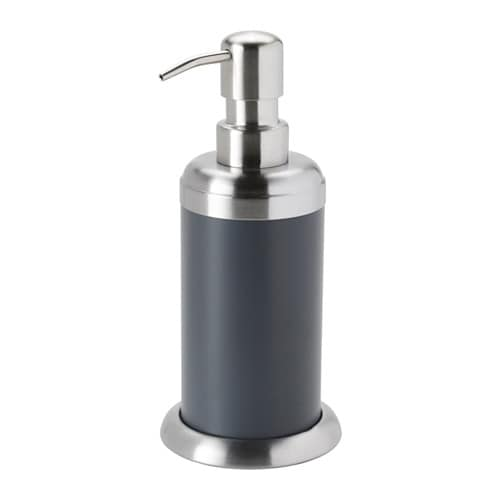 Mj sa soap dispenser dark grey ikea for Grey bathroom accessories set