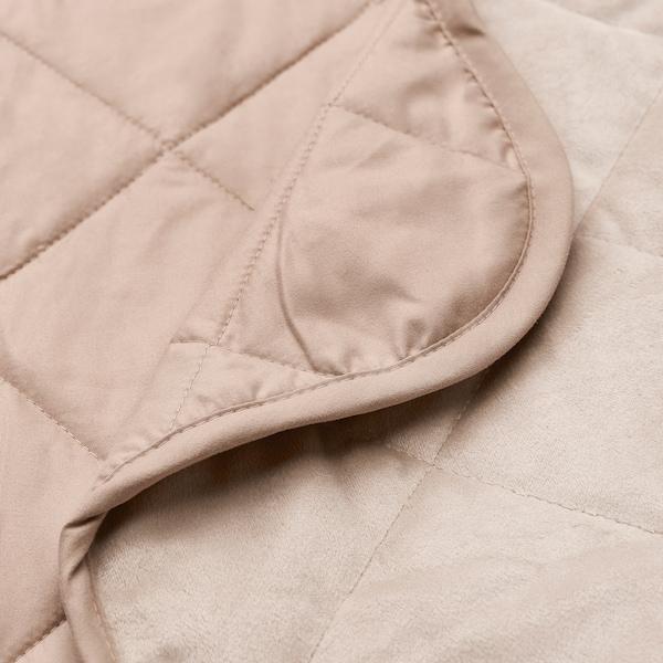 MJUKPLISTER Bedspread, beige, 260x250 cm