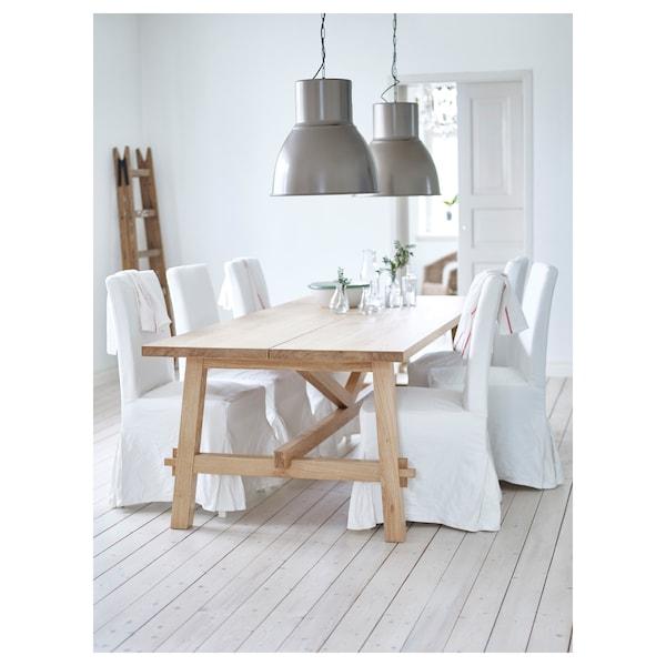 MÖCKELBY table oak 235 cm 100 cm 74 cm