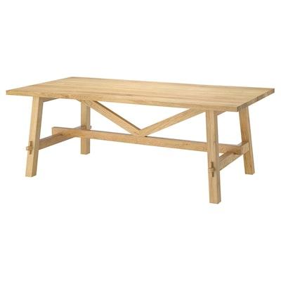 MÖCKELBY Table, oak, 140x79 cm