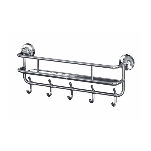 MOGDEN Wall shelf with 5 hooks IKEA