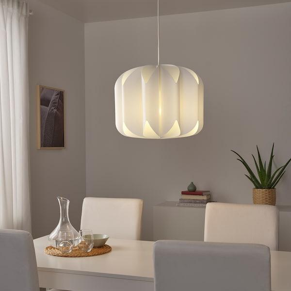 MOJNA Pendant lamp shade, textile/white, 47 cm