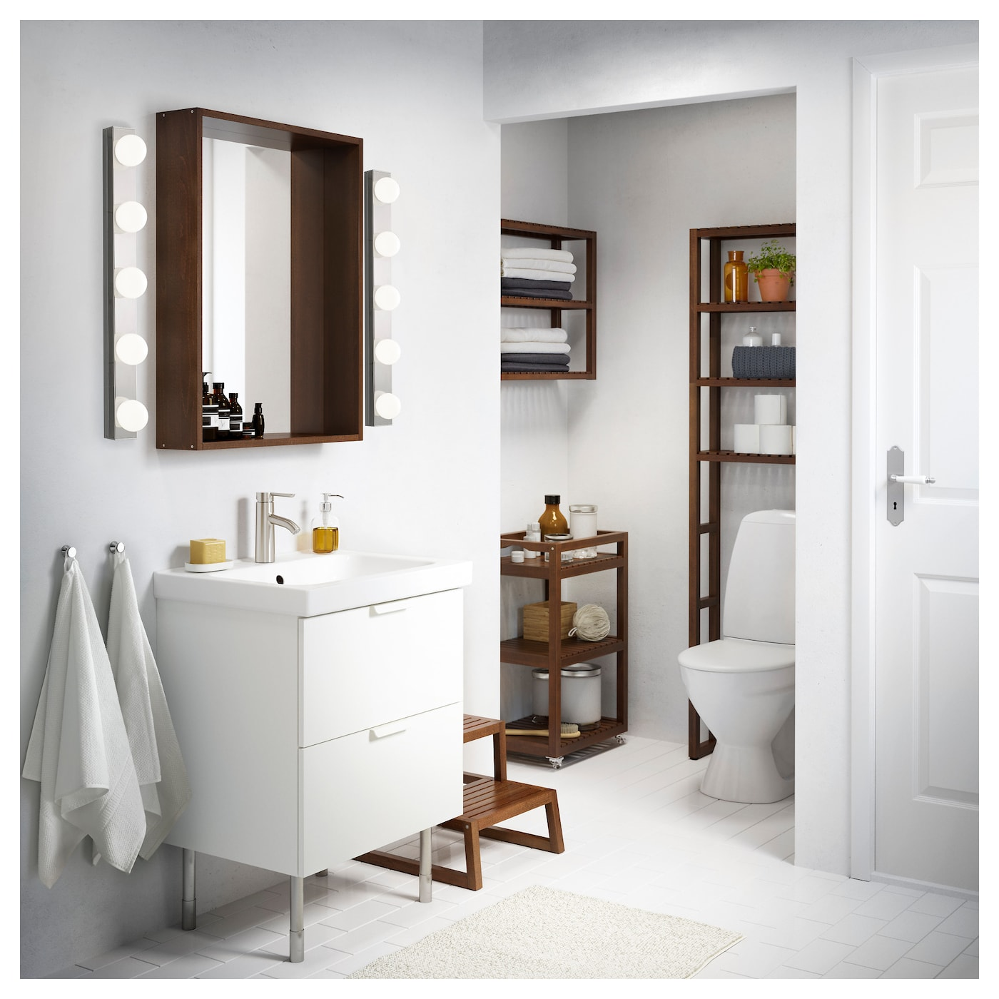 dark brown bathroom mirror molger mirror brown 80x60 cm ikea 18042 | molger mirror dark brown 0331117 ph121302 s5