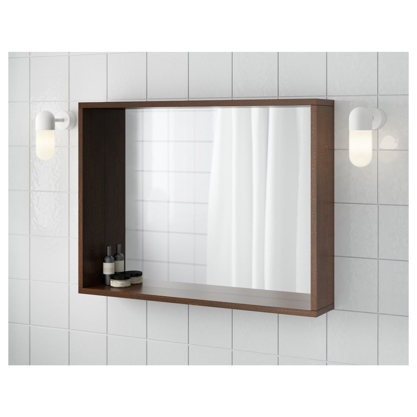 IKEA MOLGER mirror Can be hung horizontally or vertically.