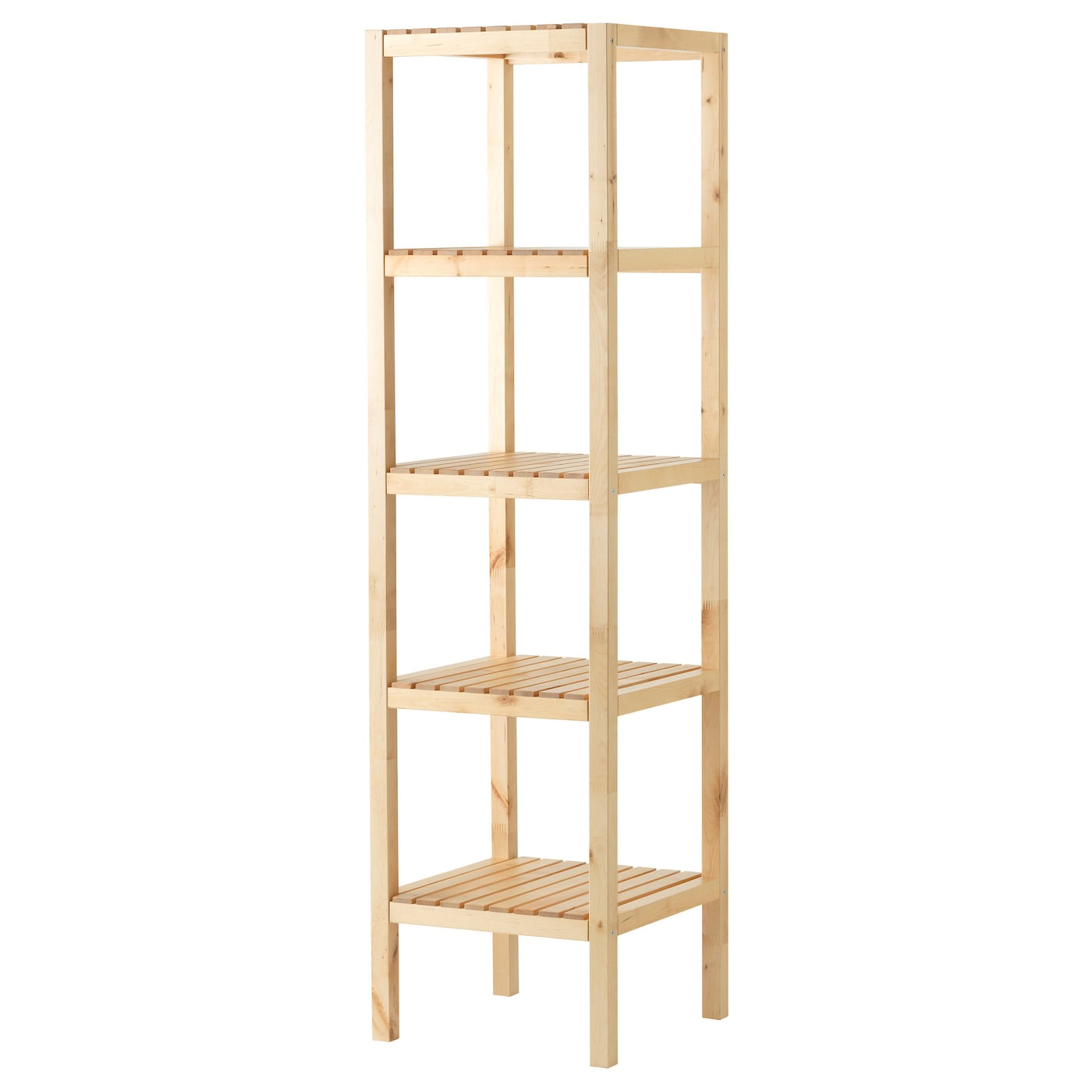 IKEA MOLGER shelving unit The open shelves give an easy overview and easy reach.