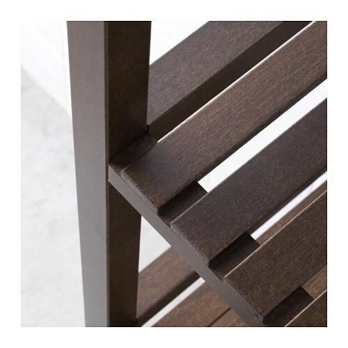 molger shelving unit dark brown 37x140 cm ikea. Black Bedroom Furniture Sets. Home Design Ideas