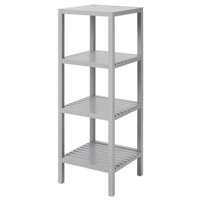 MOLGER Shelving unit, grey, 37x104 cm