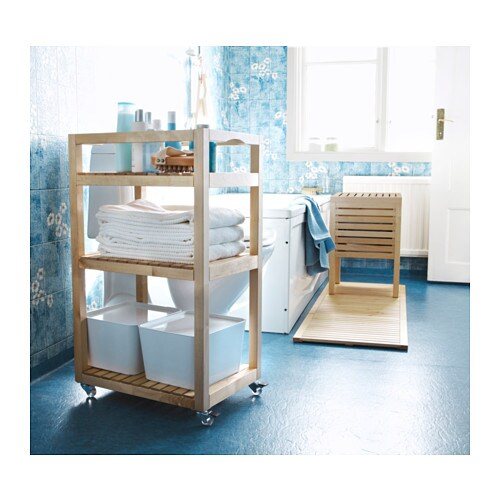 IKEA MOLGER trolley Easy to move - castors included.