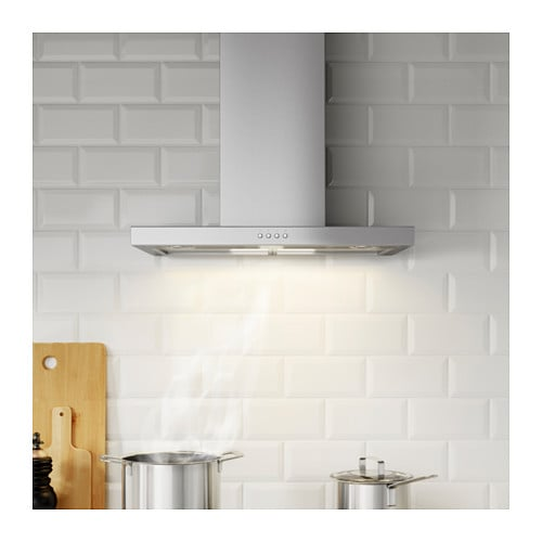 MOLNIGT Wall mounted extractor hood Stainless steel 60 cm - IKEA