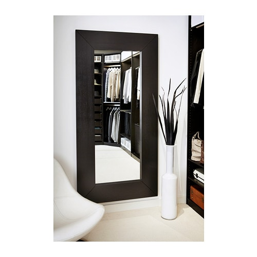 Mongstad mirror black brown 94x190 cm ikea - Ikea miroirs deco ...
