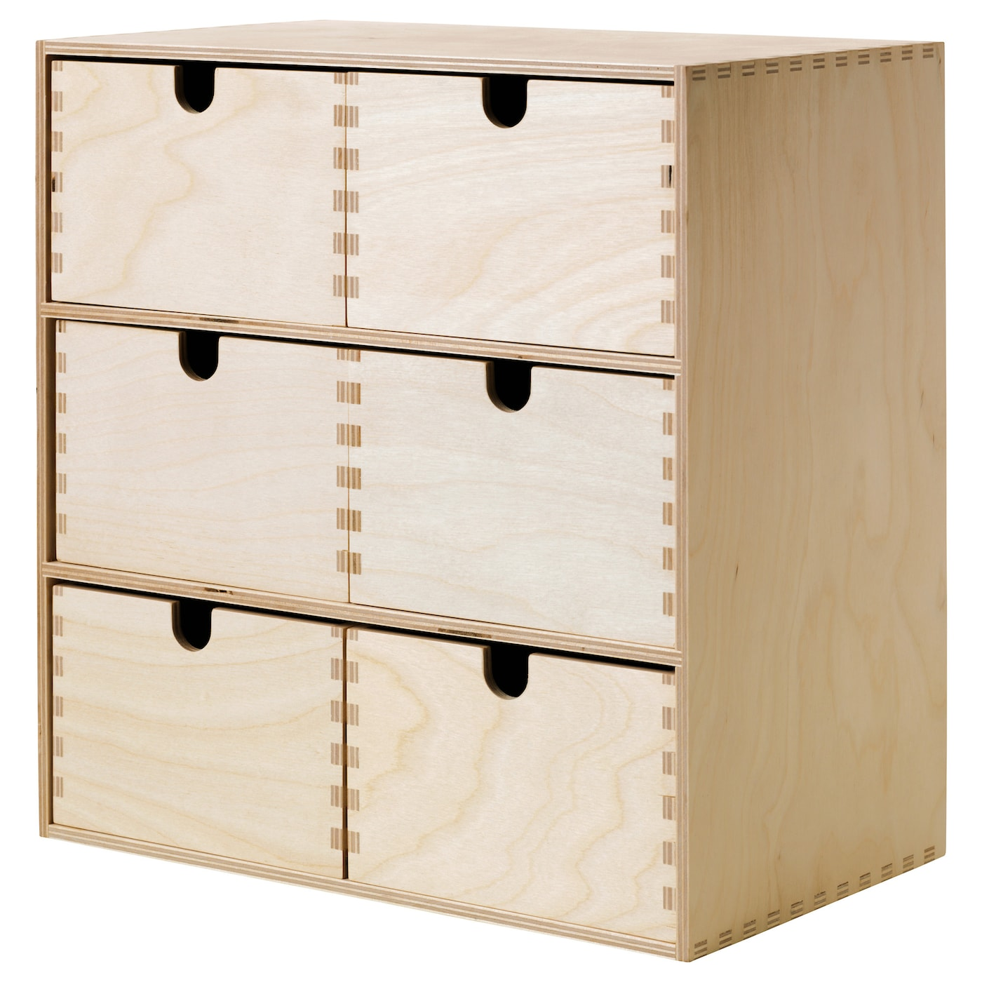 Moppe mini chest of drawers birch plywood cm