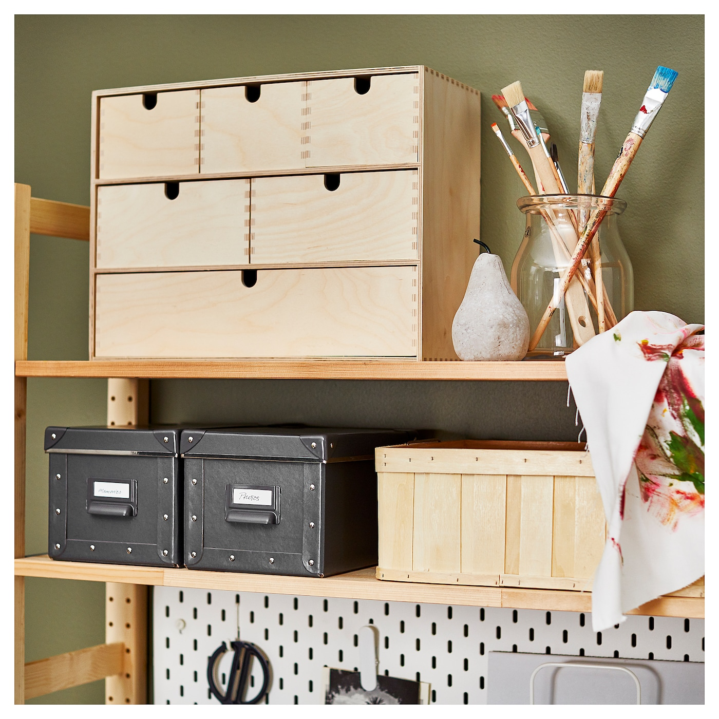 moppe mini chest of drawers birch plywood 42 x 18 x 32 cm - ikea