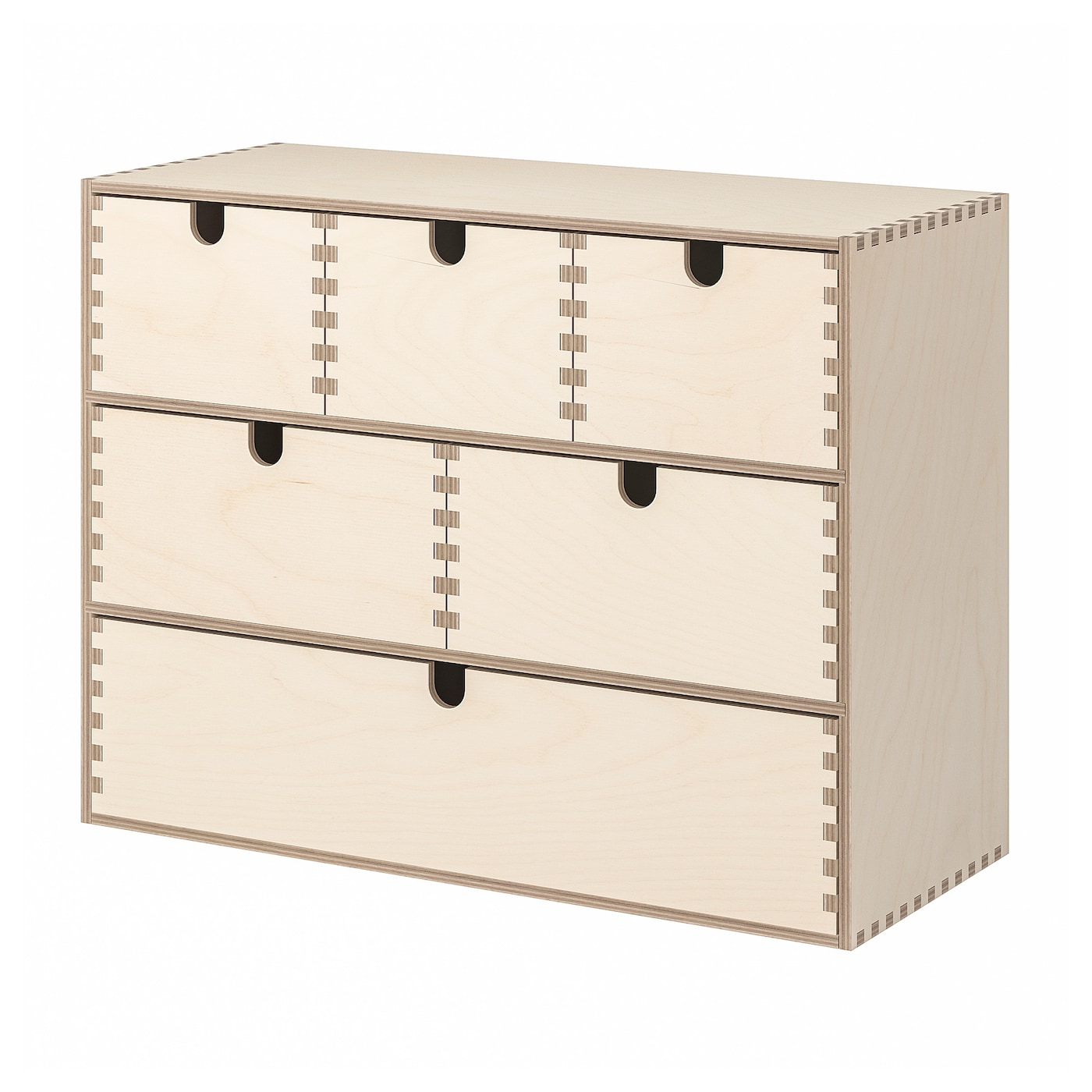 Office Moppe Mini Chest of drawers untreated wood Ikea Storage Desk