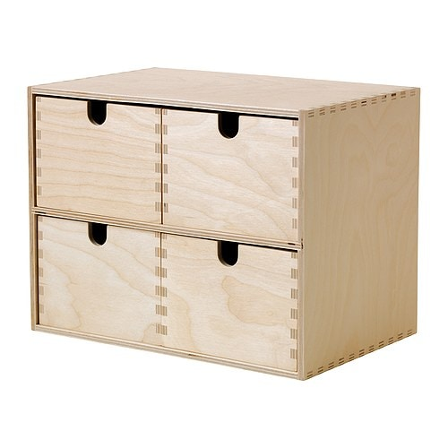 MOPPE Mini chest of drawers IKEA Untreated wood; can be treated with oil or glazing paint for a personal touch and a more durable surface.
