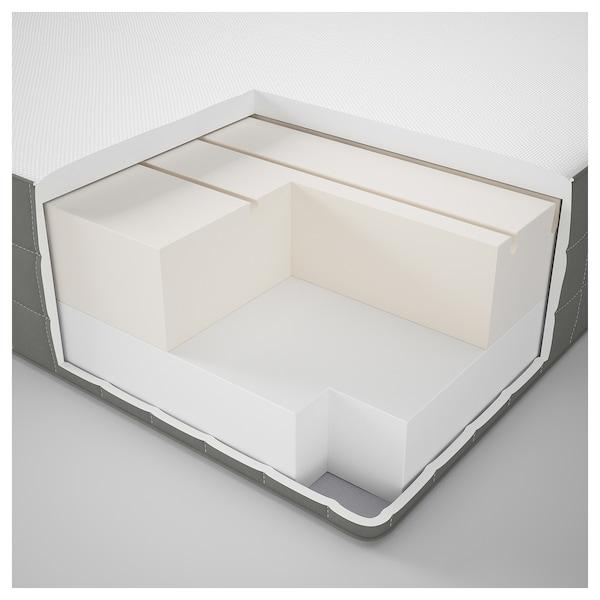 MORGEDAL Foam mattress, firm/dark grey, Standard Double