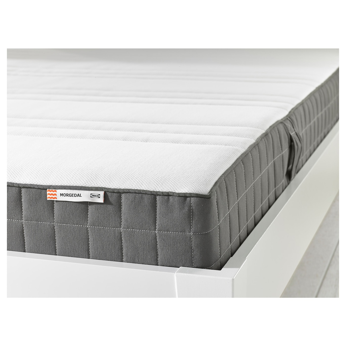 IKEA MORGEDAL memory foam mattress A generous layer of soft fillings adds support and comfort.