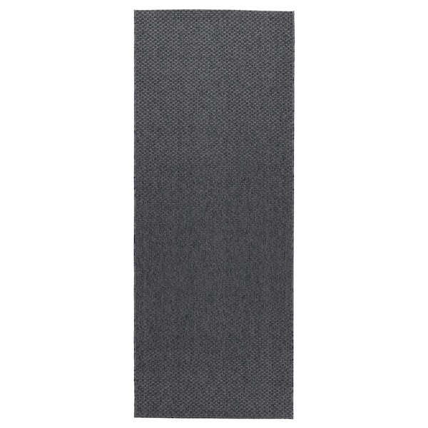 MORUM rug flatwoven, in/outdoor dark grey 200 cm 80 cm 5 mm 1.60 m² 1385 g/m²