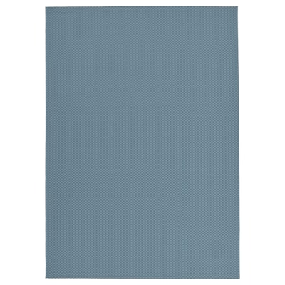 MORUM Rug flatwoven, in/outdoor, light blue, 160x230 cm