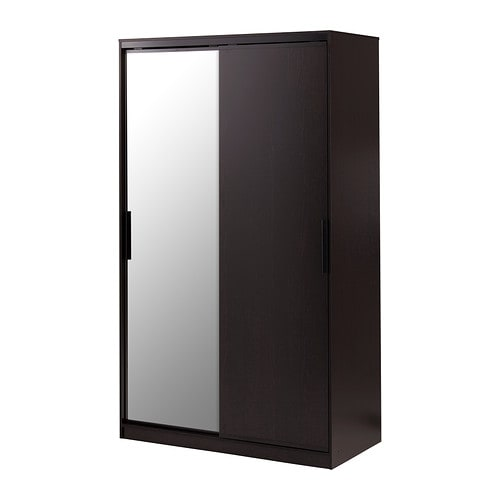 morvik wardrobe black brown mirror glass ikea. Black Bedroom Furniture Sets. Home Design Ideas