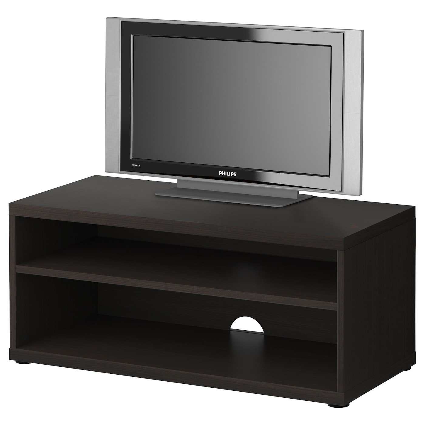 IKEA MOSJ TV bench 1 adjustable shelf; adjust spacing according to your  own needs.