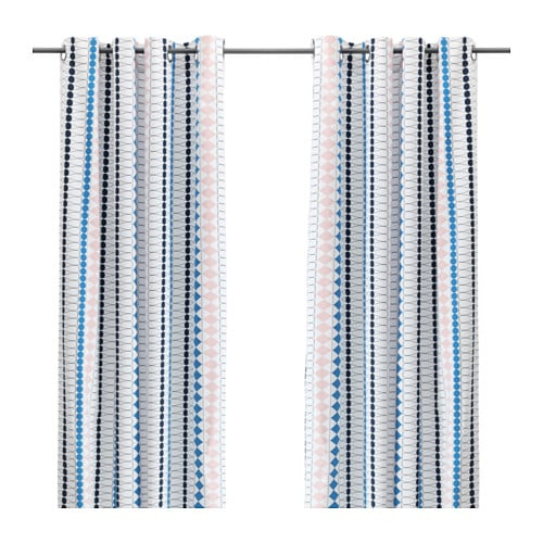 IKEA MOSSFLOX curtains, 1 pair