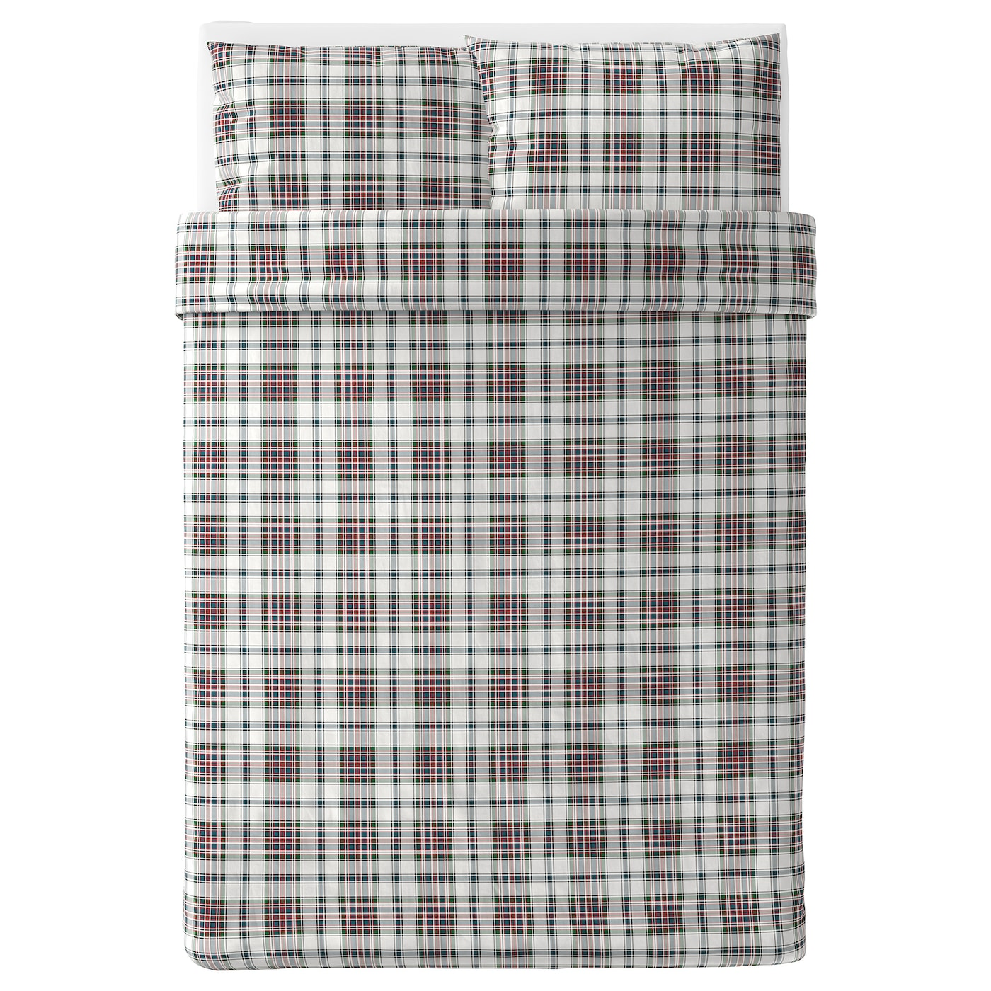 IKEA MOSSRUTA quilt cover and 2 pillowcases Pure cotton that feels soft and nice against your skin.