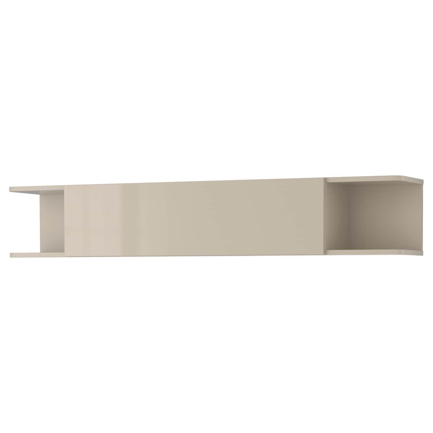 mostorp wall shelf high gloss beige 160 x 27 cm ikea. Black Bedroom Furniture Sets. Home Design Ideas