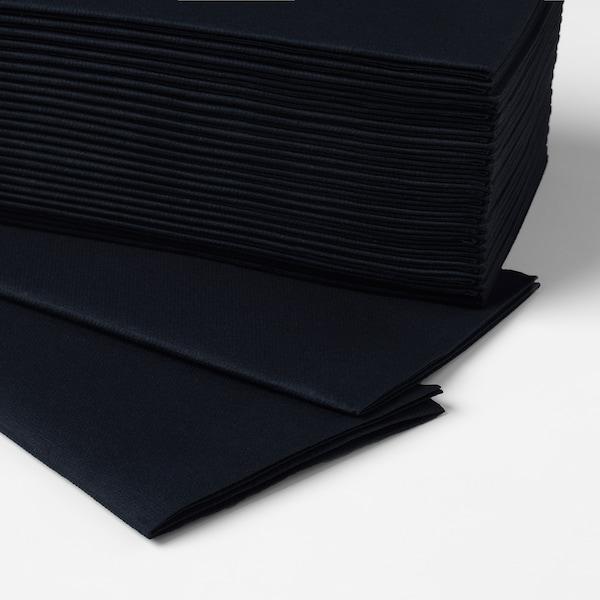 MOTTAGA Paper napkin, black, 38x38 cm