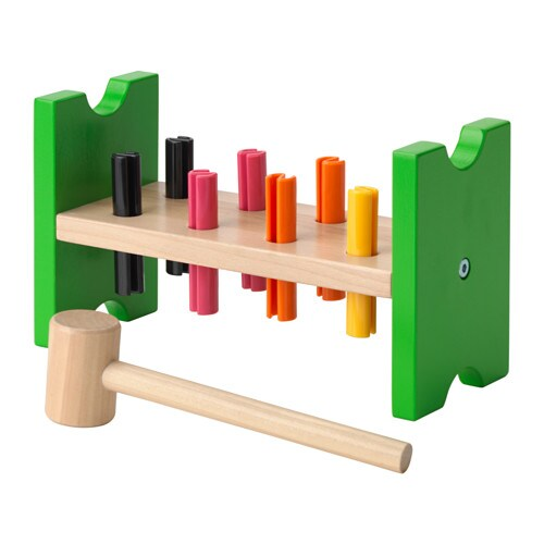 Mula Toy Hammering Block Multicolour Ikea