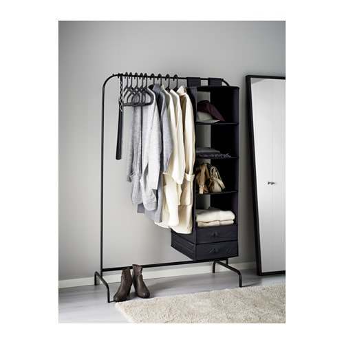 mulig clothes rack black 99x46 cm ikea. Black Bedroom Furniture Sets. Home Design Ideas
