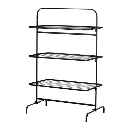 MULIG Drying rack, 3 levels IKEA Suitable for both indoor and outdoor use.  Extra wide drying rack; for bed linen, towels etc.
