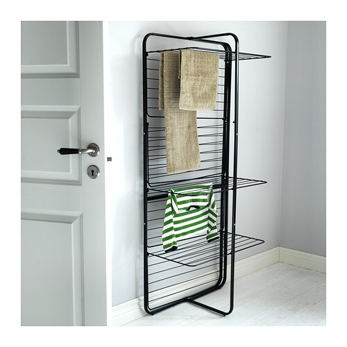 mulig drying rack 4 levels in outdoor black ikea. Black Bedroom Furniture Sets. Home Design Ideas