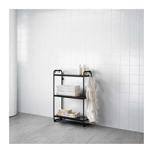 mulig shelving unit black 58x34x90 cm ikea. Black Bedroom Furniture Sets. Home Design Ideas
