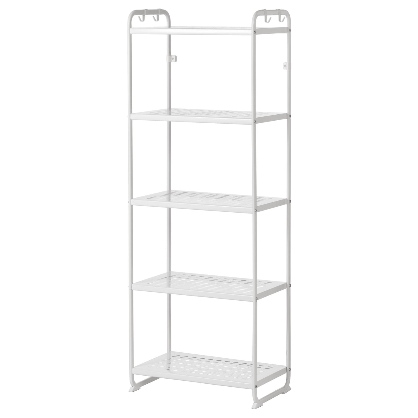 IKEA MULIG shelving unit Can also be used in bathrooms and other damp areas indoors.