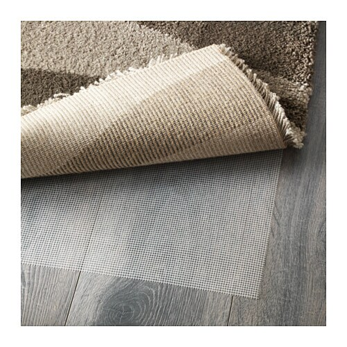 IKEA MULLERUP rug, high pile The high pile dampens sound and provides a soft surface to walk on.