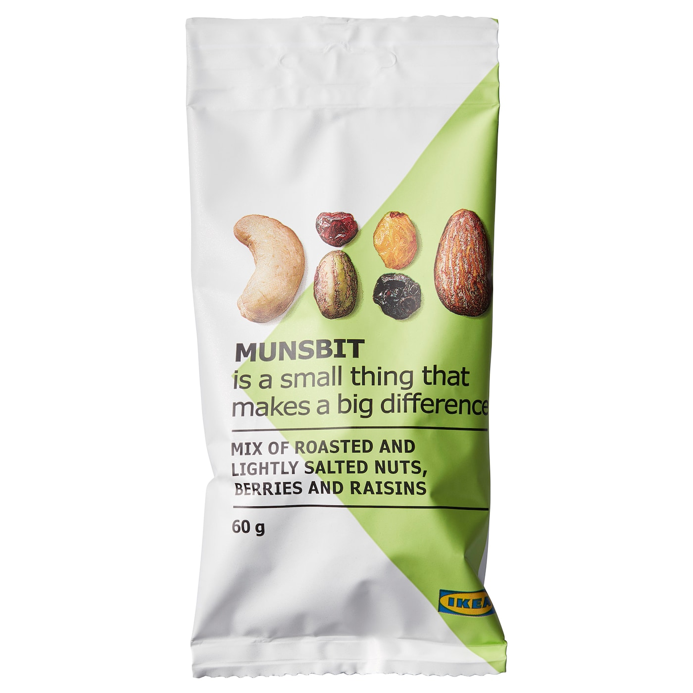 IKEA MUNSBIT dry-roasted nuts/berries/raisins A timesaver. Fuel up in a flash and keep going.