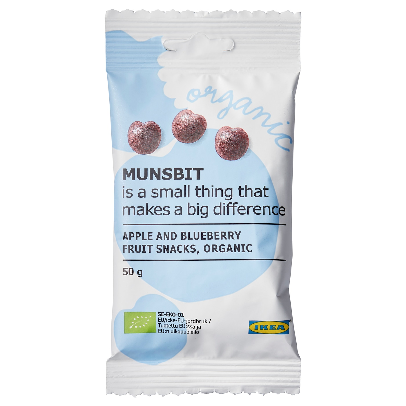 IKEA MUNSBIT fruit snacks Made from fruit juices and fruit purées. Includes no colorants.