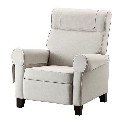 Ikea Muren Recliner When You Lean Backwards The Built In Footstool Folds Out