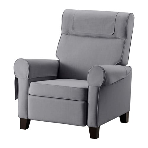 IKEA MUREN recliner When you lean backwards, the built-in footstool folds out.