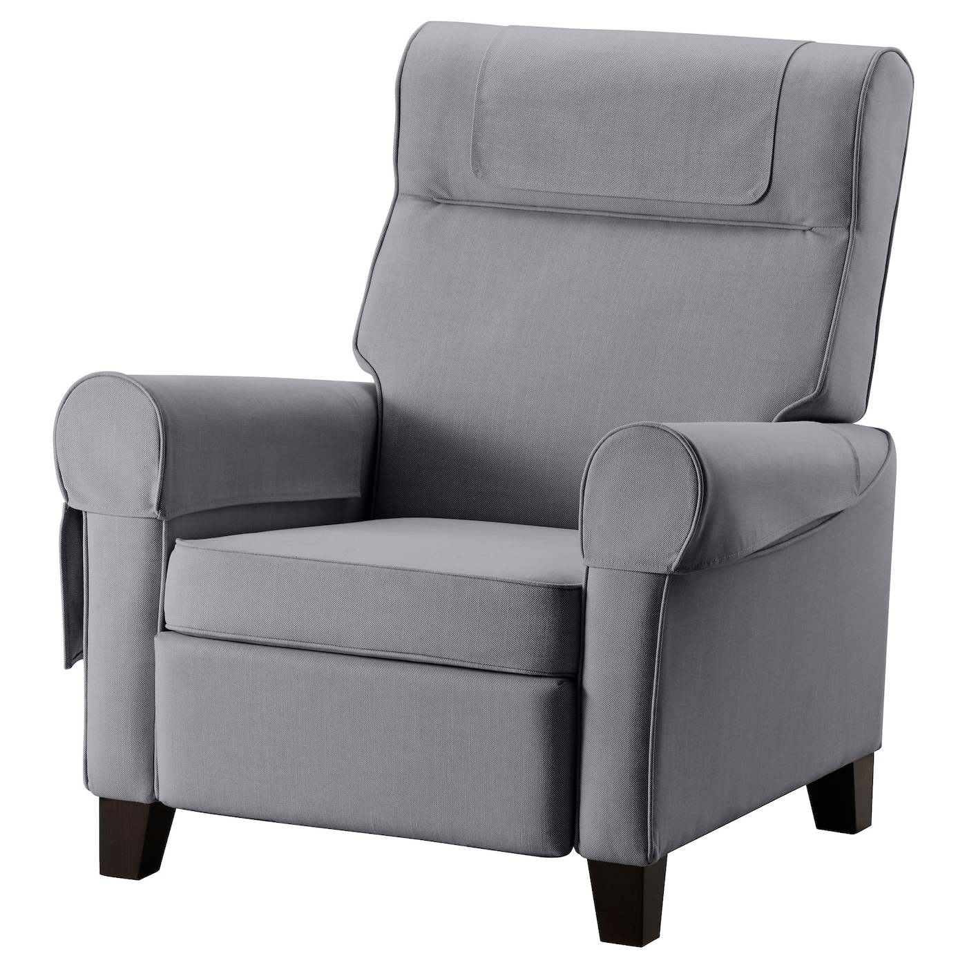 IKEA MUREN Recliner When You Lean Backwards, The Built In Footstool Folds  Out.