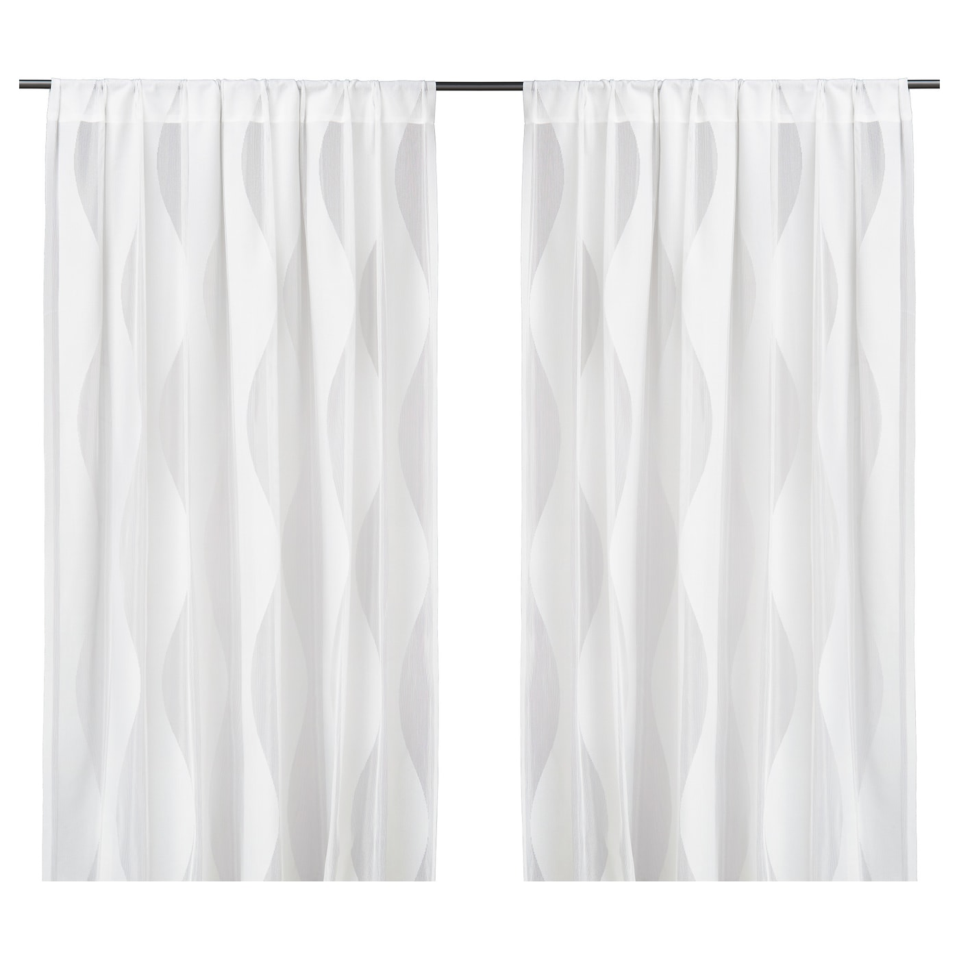 MURRUTA Net curtains, 1 pair White 145x250 cm - IKEA
